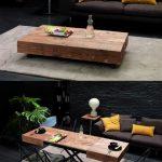 Деревянный современный стол-трансформер