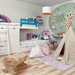 Двухъярусная кровать с выдвижными ящиками и шкафчиком