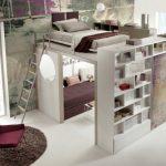 Двухъярусный комплект мебели-трансформер в интерьере