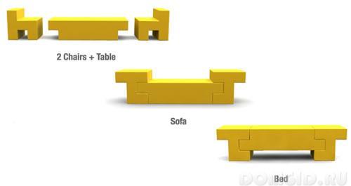 Функциональный комплект мебели