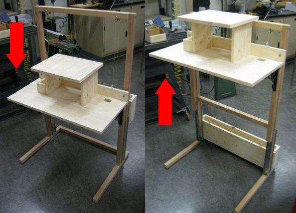 Компьютерный стол-трансформер