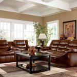Кожаные коричневые диван и кресла-трансформеры