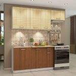 Миниатюрный кухонный гарнитур для дачного домика
