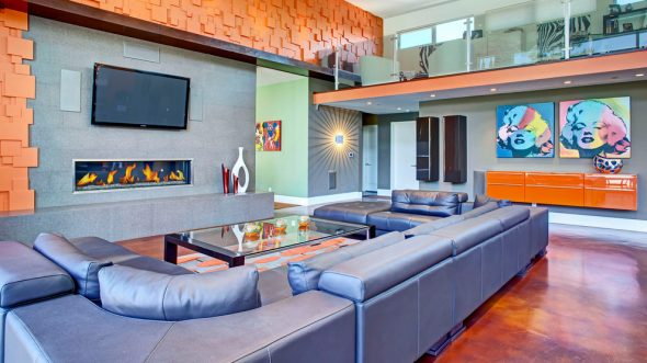 Оформление гостиной в стиле поп-арт