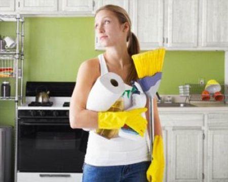 Отчищаем жир на кухне