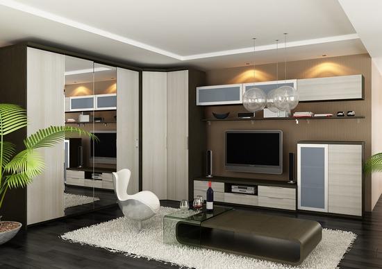 Элементы мебели гостиной