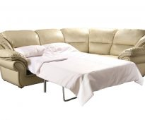 Роскошный угловой кожаный диван