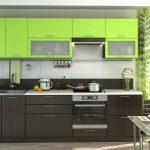 Серый и салатовый для оформления кухонного гарнитура