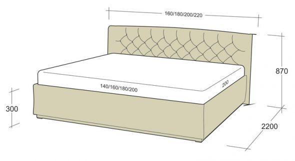 Схема двухспальной кровати