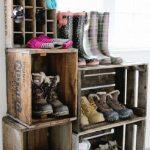 Стеллаж из ящиков для обуви своими руками