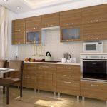 Светло-коричневая уютная кухня