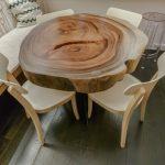 Стол из спила дерева круглый