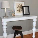 Белый консольный столик с готовыми ножками