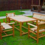 Дачная мебель из бамбука