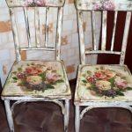 Декупаж стульев в стиле прованс