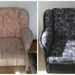 Двухцветное решение для мягкого кресла своими руками
