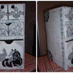 Комод из картонных коробок