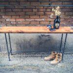 Консольный столик в стиле лофт