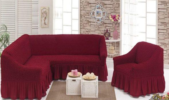 Красивый чехол для углового дивана