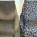Кресла до и после замены обивки