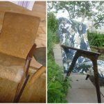 Дачное кресло до и после