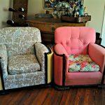 Кресло с мягкими подушками после реставрации