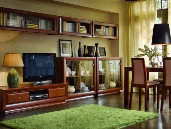 Мебель в гостиную из вишни