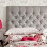 Мягкая спинка кровати с обивкой каретная стяжка