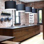Необычная деревянная кухонная мебель для кухни в стиле лофт