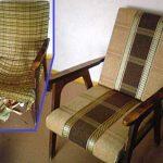Новый вариант для обивки старого кресла