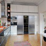 Оформление кухни до самого потолка для рационального использования пространства