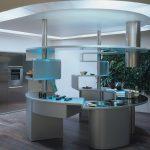 Оформление кухни в стиле хай-тек без навесных шкафчиков