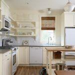 Оформление угловой кухни без навесных шкафов