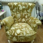 Перетянутое обновленное кресло