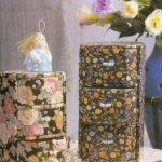 Полукруглые цветочные комоды из картона