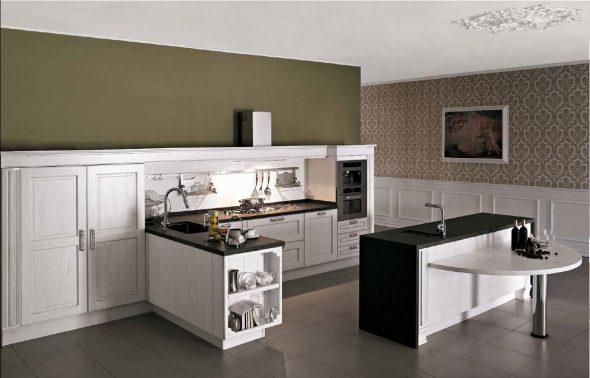 Рейлинги для кухни без верхних шкафов