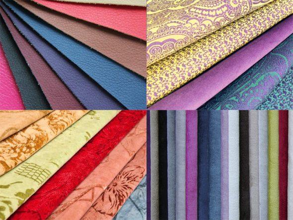 Разные ткани для обивки