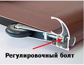 Регулировочный болт шкафа-купе