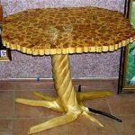 Шикарный деревянный столик ручной работы