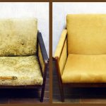 Желтое кресло до и после ремонта своими руками