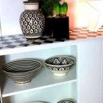 Кухонная столешница с шахматным рисунком