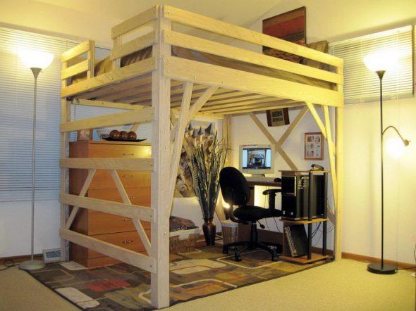 Подростковая кровать-чердак