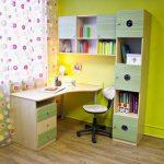 Комплект мебели для школьника - письменный стол и полка-стеллаж