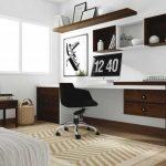 Контрастный комплект мебели - полка и письменный стол