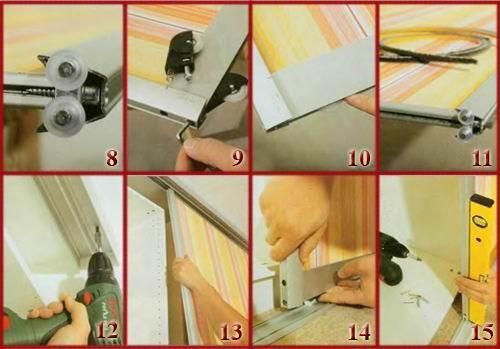 Процесс монтирования дверей