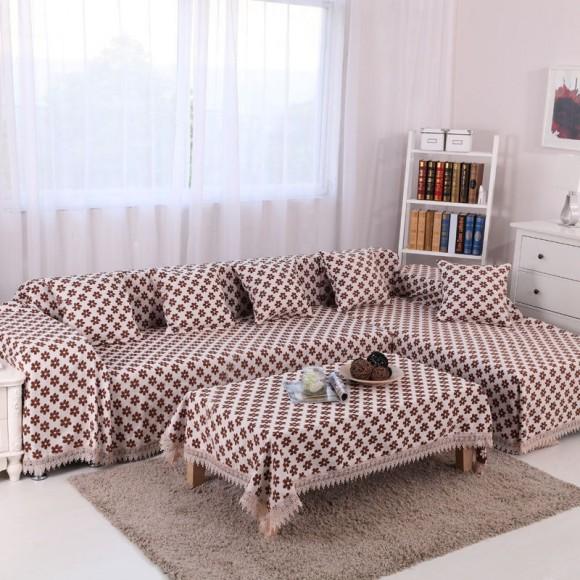 Покрывало на диван и скатерть