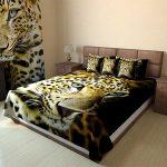 Декоративное покрывало с тигром