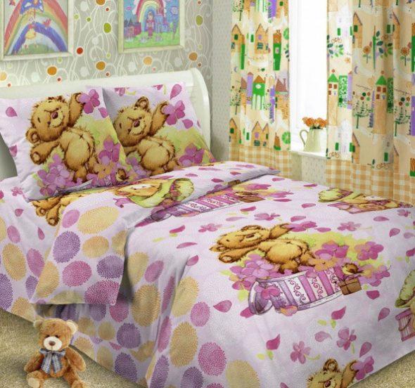 Детское постельное с медвежатами