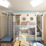 Двухъярусная кровать с турниками пригодится юным спортсменам