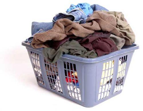 Хранение белья в корзине